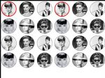 24 x Audrey Hepburn  edible wafer paper cup cake top toppers
